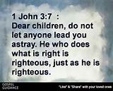Righteous is as does