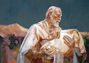abraham holding Isaac