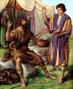 Jacob and Esau trade for birthright