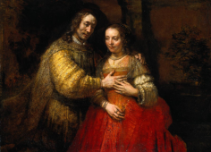 Rembrandt's vision of the expectant couple.