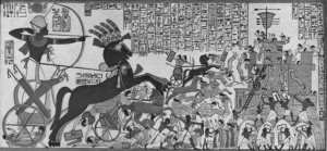 Ramesses II storming the Hittite fortress of Dapur.  He was the most famous and powerful Pharaoh of Egypt's New Kingdom, but contrary to prevailing opinion he was not the Pharaoh who withstood Moses.