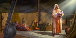 abraham w newborn isaac