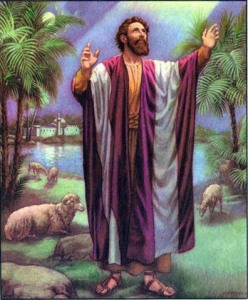 Abraham worshiping God
