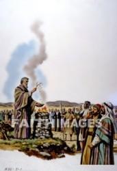 Moses sprinkling blood