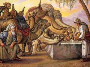 rebekah-watering-camels