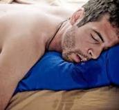 sleeping man drooling