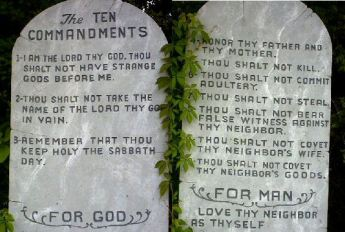 10commandments on stone