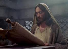 jesus with scroll