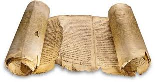 tattered torah scroll